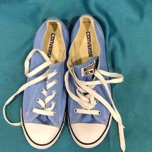 Women's Size 9 Blue Converse All Stars